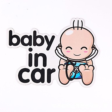 أبيض Car Stickers فكاهة ملصقات السيارات الذيل / نافذة تقليم الأحرف ملصقات