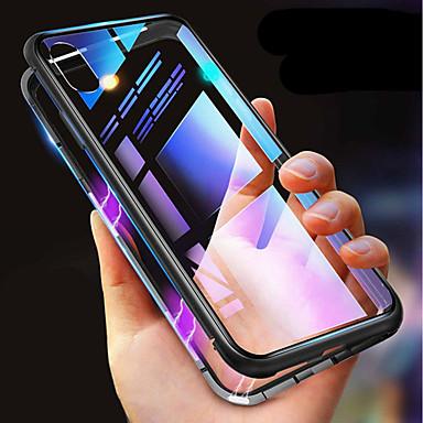 Недорогие Кейсы для iPhone X-магнитный чехол для яблока iphone 11 / iphone 11 pro / iphone 11 pro max ударопрочный / прозрачный / односторонний магнитный чехол для всего тела сплошное цветное закаленное стекло