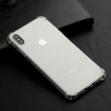 Недорогие Кейсы для iPhone X-Кейс для Назначение Apple iPhone 11 / iPhone 11 Pro / iPhone 11 Pro Max Защита от удара / Прозрачный Кейс на заднюю панель Однотонный Мягкий ТПУ