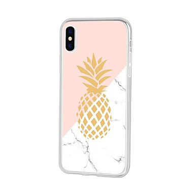 voordelige iPhone 6 Plus hoesjes-hoesje Voor Apple iPhone XS / iPhone XR / iPhone XS Max Patroon Achterkant Cartoon / Fruit / Marmer Zacht TPU