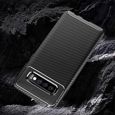 povoljno Maske/futrole za Galaxy S seriju-Θήκη Za Samsung Galaxy S9 / S9 Plus / Galaxy S10 Reljefni uzorak Stražnja maska Jednobojni Mekano Carbon Fiber