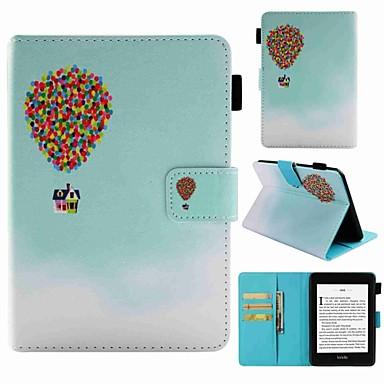 Недорогие Kindle Paperwhite-Кейс для Назначение Amazon Kindle PaperWhite 4 Бумажник для карт / Защита от удара / С узором Чехол Воздушные шары Твердый Кожа PU