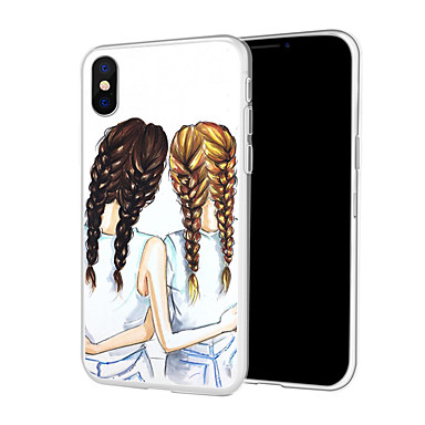 voordelige iPhone-hoesjes-hoesje Voor Apple iPhone XS / iPhone XR / iPhone XS Max Patroon Achterkant Sexy dame / Cartoon Zacht TPU