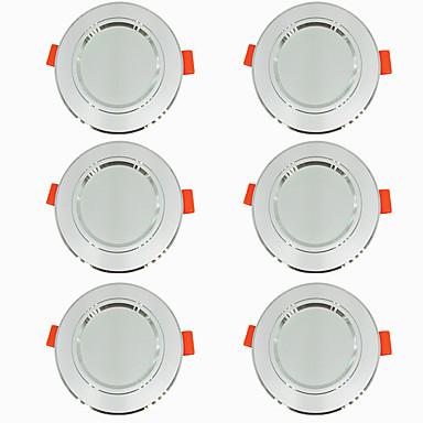 povoljno Unutarnja svjetla-6kom 5 W 360 lm 10 LED zrnca Jednostavna instalacija Udubljeno LED ugradbene žarulje Toplo bijelo Hladno bijelo 220-240 V Za dom / ured Za dnevnu sobu / blagavaonicu / CE