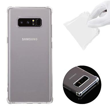 voordelige Galaxy Note-serie hoesjes / covers-hoesje Voor Samsung Galaxy Note 8 Schokbestendig / Transparant Achterkant Effen Zacht TPU