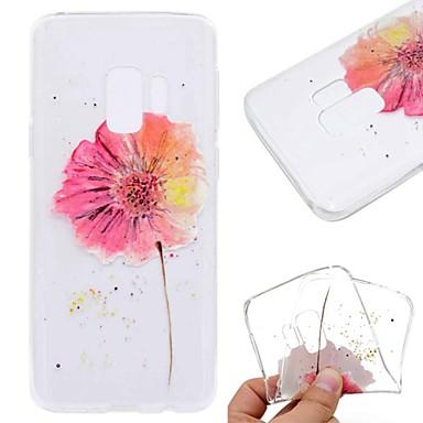 voordelige Galaxy S-serie hoesjes / covers-hoesje Voor Samsung Galaxy S9 / S9 Plus / S8 Plus Transparant / Patroon Achterkant Vlinder / Bloem / Marmer Zacht TPU