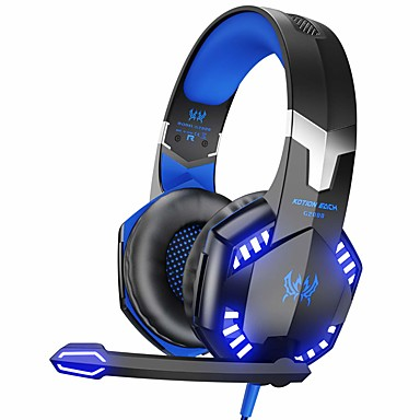 MP Wired Gaming Headset Over Ear Headphone W// Microphone For PC Gamer Salar