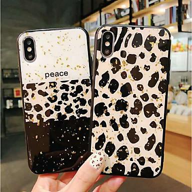 Недорогие Кейсы для iPhone 7 Plus-Кейс для Назначение Apple iPhone XS / iPhone XR / iPhone XS Max Защита от удара / Защита от пыли Кейс на заднюю панель Леопардовый принт Мягкий ТПУ