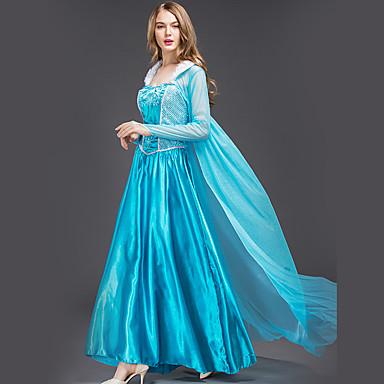 870e091294 Cinderella Elsa Disfrace de Cosplay Adulto Mujer Vestidos Navidad Halloween  Carnaval Festival   Celebración Satén   Tul Algodón Azul Traje carnaval  Princesa ...