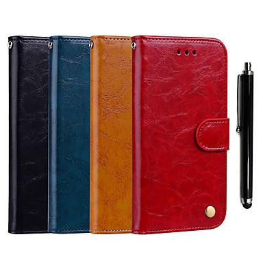 رخيصةأون حافظات / جرابات هواتف جالكسي J-غطاء من أجل Samsung Galaxy J7 (2017) / J7 (2016) / J5 (2017) محفظة / حامل البطاقات / مع حامل غطاء كامل للجسم لون سادة قاسي جلد PU
