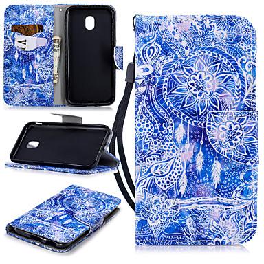 hoesje Voor Samsung Galaxy J3 (2017) Portemonnee / Kaarthouder / Schokbestendig Volledig hoesje Dromenvanger Hard PU-nahka
