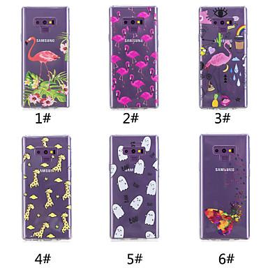 Недорогие Чехлы и кейсы для Galaxy Note-Кейс для Назначение SSamsung Galaxy Note 9 / Note 8 С узором Кейс на заднюю панель Бабочка / Фламинго / Мультипликация Мягкий ТПУ