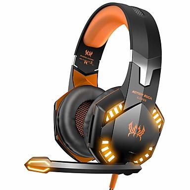 voordelige Gaming-oordopjes-kotion elke g2000 gaming headsets grote hoofdtelefoons met lichte mic stereo oortelefoons diepe bas voor pc computer gamer laptop ps4 nieuwe x-doos