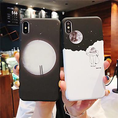 Недорогие Кейсы для iPhone 6-Кейс для Назначение Apple iPhone XS / iPhone XR / iPhone XS Max Сияние в темноте / Матовое Кейс на заднюю панель Пейзаж Твердый ПК