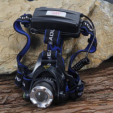 Frontale 1200 lm LED LED 1 emițători 3 Mod Zbor Camping / Cățărare / Speologie Ciclism Alpinism Negru / Aliaj de Aluminiu