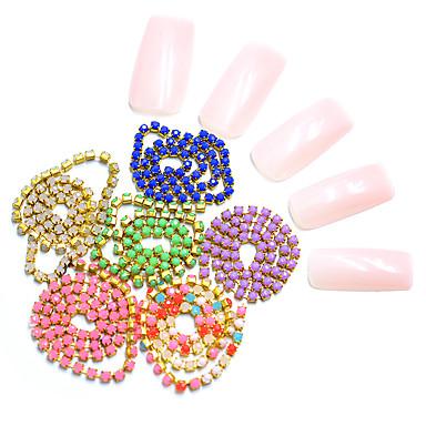 Crystal / Rhinestone Nakit za nokte Za Prst noktiju Nokti na nogama Crystal / Mini Style / Relaxed Fit Totem Series Nakit serije Romantična serija nail art Manikura Pedikura pomodan / Romantični