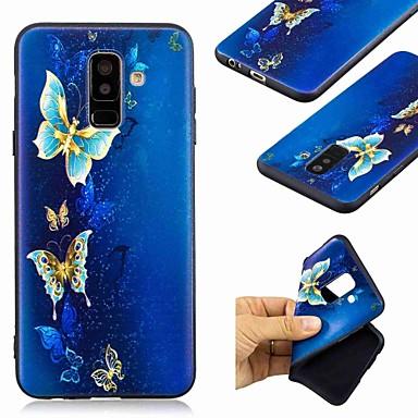 Недорогие Чехлы и кейсы для Galaxy А-Кейс для Назначение SSamsung Galaxy A6 (2018) / A6+ (2018) / Galaxy A7(2018) С узором Кейс на заднюю панель Бабочка Мягкий ТПУ