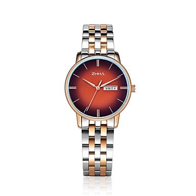 b437fd10892 ZHHA Homens Relógio Elegante Relógio de Pulso Quartzo Japonês Prata 30 m  Impermeável Relógio Casual Mostrador Grande Analógico Fashion Minimalista -  Azul ...