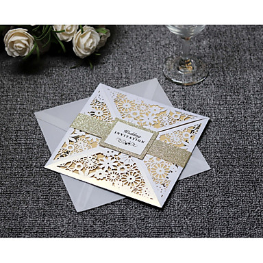 cheap Wedding Reception-Side Fold Wedding Invitations 20 - Invitation Cards Artistic Style Pure Paper