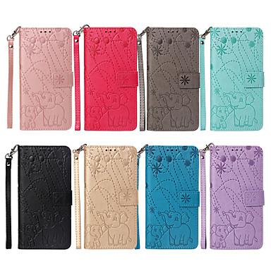 Недорогие Чехлы и кейсы для Xiaomi-Кейс для Назначение Xiaomi Redmi Note 5A / Xiaomi Redmi Note 5 Pro / Redmi 6A Бумажник для карт / со стендом / Флип Чехол Животное / Цветы Твердый Кожа PU