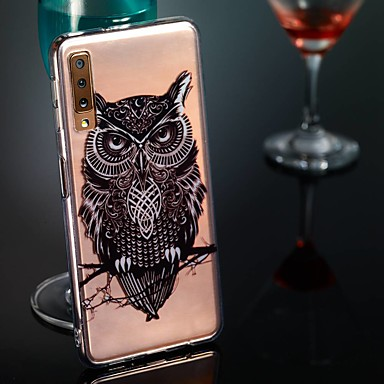 voordelige Galaxy A-serie hoesjes / covers-hoesje Voor Samsung Galaxy A6 (2018) / A6+ (2018) / Galaxy A7(2018) Transparant / Patroon Achterkant Mandala / Uil Zacht TPU