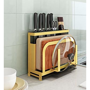[$128.79] Kitchen Organization Rack & Holder / Cookware Holders / Hanging  Baskets Metal Storage 1 set