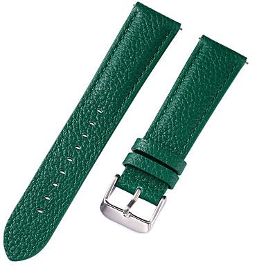 رخيصةأون إكسسوارات الساعات-جلد أصلي / جلد / شعر العجل حزام حزام إلى أزرق / بني / أخضر 17CM / 6.69 بوصة / 18cm / 7 Inches / 19cm / 7.48 Inches 1cm / 0.39 Inches / 1.2cm / 0.47 Inches / 1.3cm / 0.5 Inches