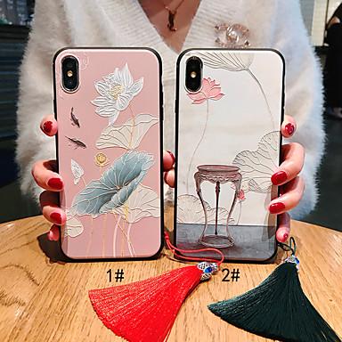 Недорогие Кейсы для iPhone 6 Plus-Кейс для Назначение Apple iPhone XS / iPhone XR / iPhone XS Max Матовое / С узором / Своими руками Кейс на заднюю панель Животное / Цветы Мягкий ТПУ