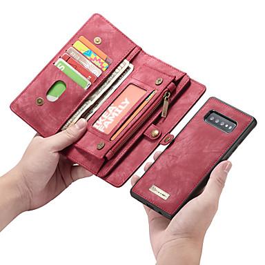 Недорогие Чехлы и кейсы для Galaxy S-Кейс для Назначение SSamsung Galaxy S9 / S9 Plus / S8 Plus Кошелек / Бумажник для карт / Защита от удара Чехол Однотонный Кожа PU / ТПУ