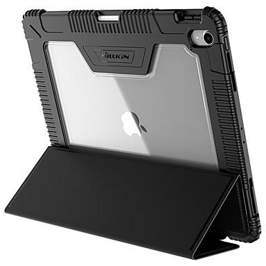 olcso iPad tokok-Case Kompatibilitás Apple iPad Pro 12.9'' Ütésálló / Állvánnyal / Flip Héjtok Egyszínű Kemény PU bőr