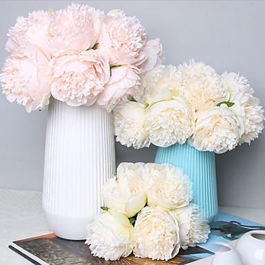 زهور اصطناعية 5 فرع كلاسيكي Wedding Flowers النمط الرعوي الفاوانيا أزهار الطاولة