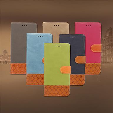 Недорогие Чехлы и кейсы для Nokia-Кейс для Назначение Nokia Nokia 6 2018 Бумажник для карт / Флип Чехол Однотонный Мягкий Кожа PU