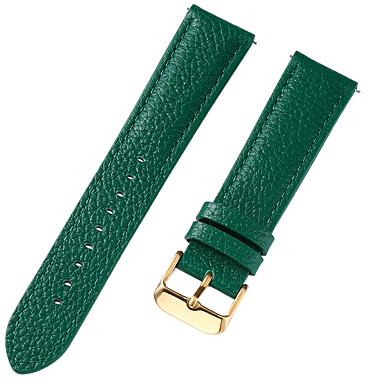 رخيصةأون قيود ساعات-جلد أصلي / جلد / شعر العجل حزام حزام إلى أزرق / بني / أخضر 17CM / 6.69 بوصة / 18cm / 7 Inches / 19cm / 7.48 Inches 1cm / 0.39 Inches / 1.2cm / 0.47 Inches / 1.3cm / 0.5 Inches