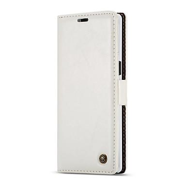 voordelige Galaxy Note-serie hoesjes / covers-hoesje Voor Samsung Galaxy Note 8 Patroon / Magnetisch Volledig hoesje Effen Zacht aitoa nahkaa