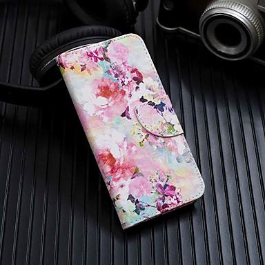 رخيصةأون Xiaomi أغطية / كفرات-غطاء من أجل Xiaomi Xiaomi Redmi Note 5 Pro / Xiaomi Pocophone F1 / Xiaomi Redmi 6 Pro محفظة / حامل البطاقات / مع حامل غطاء كامل للجسم زهور قاسي جلد PU