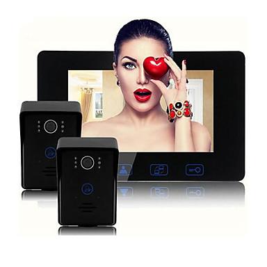 olcso Beléptető rendszerek-Factory OEM Vezetékes Beépített hangszóró 7 hüvelyk Hands free Videó kaputelefon szett 1-2 db monitorral