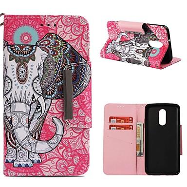 رخيصةأون LG أغطية / كفرات-غطاء من أجل LG LG Q Stylus / LG Stylo 4 / LG K30 محفظة / حامل البطاقات / ضد الصدمات غطاء كامل للجسم فيل قاسي جلد PU