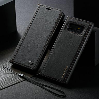 voordelige Galaxy Note-serie hoesjes / covers-hoesje Voor Samsung Galaxy Note 8 Portemonnee / met standaard / Flip Volledig hoesje Effen Hard PU-nahka
