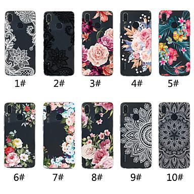 غطاء من أجل Huawei Huawei P20 / Huawei P20 Pro / Huawei P20 lite شفاف / نموذج غطاء خلفي الطباعة الدانتيل / زهور ناعم TPU / P10 Lite / P10