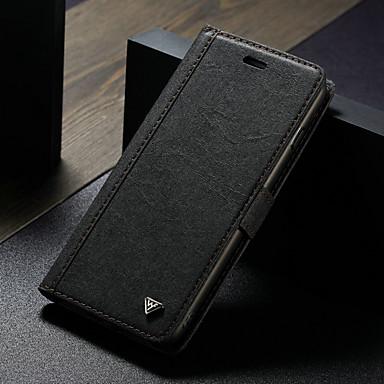 Недорогие Кейсы для iPhone-Кейс для Назначение Apple iPhone 8 Pluss / iPhone 7 Plus Кошелек / Бумажник для карт / со стендом Чехол Однотонный Твердый Кожа PU / Своими руками