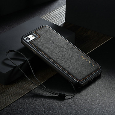 voordelige iPhone-hoesjes-hoesje Voor Samsung Galaxy iPhone 8 / iPhone 7 Waterbestendig / Schokbestendig / DHZ Achterkant Effen Hard PU-nahka