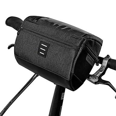 رخيصةأون حقائب الدراجة-3 L حقيبة المقود للدراجة مقاوم للماء المحمول يمكن ارتداؤها حقيبة الدراجة 600D بوليستر حقيبة الدراجة حقيبة الدراجة للجنسين الدراجة