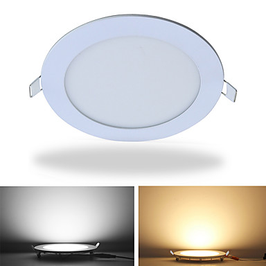 cheap Indoor Lights-JIAWEN LED Panel Light Round Ultra Thin Downlight 12W Panel led light for home office lighting AC85 -265V