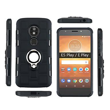 Недорогие Чехлы и кейсы для Motorola-Кейс для Назначение Motorola Moto Z3 Play / Moto G6 Play / Moto E5 Play Защита от удара / Защита от пыли / Кольца-держатели Кейс на заднюю панель броня Мягкий ПК