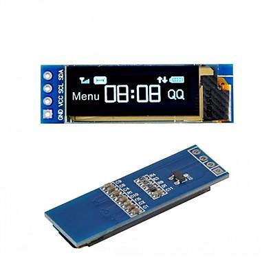 i2c oled عرض وحدة 0.91 بوصة i2c ssd1306 oled شاشة زرقاء سائق العاصمة 3.3v5v لاردوينو