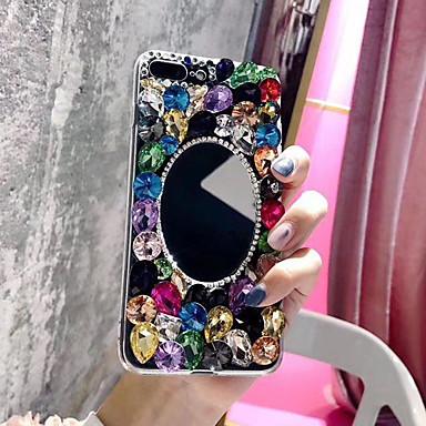 Недорогие Кейсы для iPhone 7 Plus-Кейс для Назначение Apple iPhone XS / iPhone XR / iPhone XS Max Стразы / Прозрачный / Своими руками Кейс на заднюю панель Стразы Мягкий ТПУ