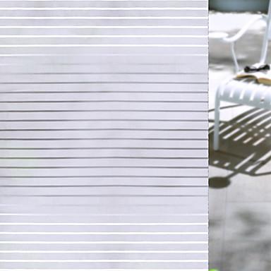 رخيصةأون الستائر-فيلم نافذة وملصقات زخرفة ماط / معاصر مخطط PVC ملصق النافذة / بدون لمعة