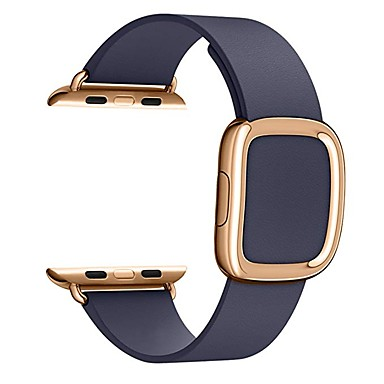 hesapli Apple Watch Kordonları-Watch Band için Apple Watch Serisi 5/4/3/2/1 / Apple Watch Series 4 Apple Modern Toka Gerçek Deri Bilek Askısı