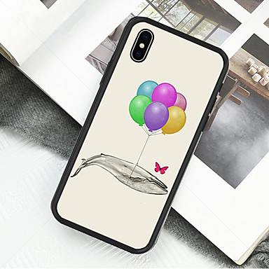 voordelige iPhone 6 hoesjes-hoesje Voor Apple iPhone XS / iPhone XR / iPhone X Patroon Volledig hoesje Olieverfschilderij / Balloon Hard Acryl / Muovi