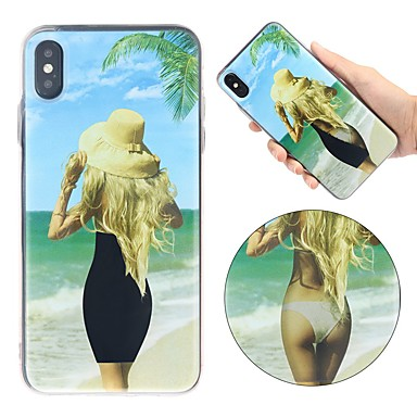 cheap New Arrivals-Case For Apple iPhone XS / iPhone XR / iPhone XS Max Shockproof / Flowing Liquid / Ultra-thin Back Cover Sexy Lady Soft TPU